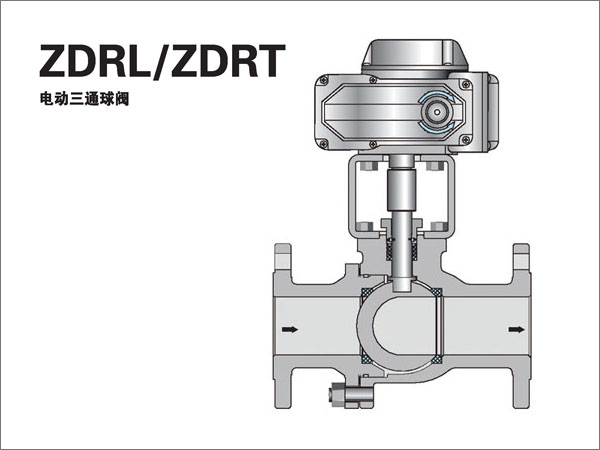 Electric three-way ball valve