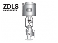 Electric angle single seat regulating valve
